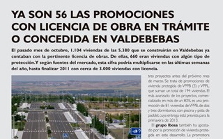 EL INMOBILIARIO – 56 developments already have building permits granted or pending in Valdebebas