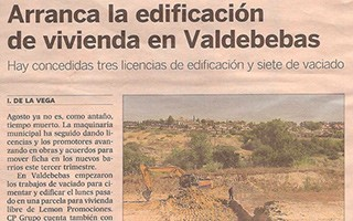 EL PAIS – Housing construction begins in Valdebebas