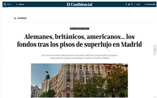 EL CONFIDENCIAL – Alemanes, británicos, americanos… los fondos tras los pisos de superlujo en Madrid