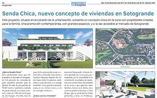 """""""Senda Chica, nuevo concepto de viviendas en Sotogrande"""" El Periódico de Sotogrande, 15/12/2017"""