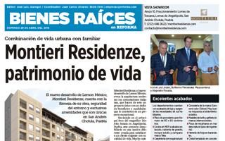 """""""MONTIERI RESIDENZE, PATRIMONIO DE VIDA"""", Diario Bienes Raíces, 29 de abril de 2018."""