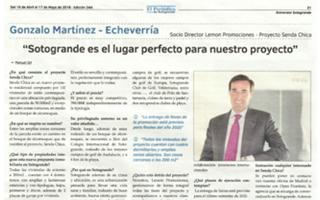 """""""SOTOGRANDE ES EL LUGAR PERFECTO PARA NUESTRO PROYECTO"""" El Periódico de Sotogrande, Edición 344, 19 de abril a 17 de mayo de 2018."""