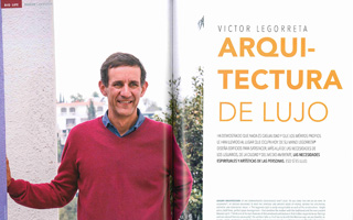"""Revista BIG LIFE. Entrevista a """"Victor Legorreta; Arquitectura de Lujo """". """"Como en el residencial Aleda en Playa del Carmen, invertir en la Riviera Maya es una garantía con la firma de Legorreta. Una manera de pensar en el futuro""""."""
